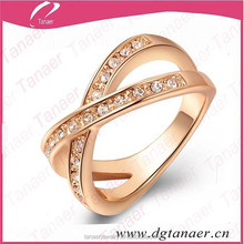 Stainless steel gold plated sample engagement ring