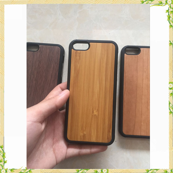 Hot sale 2017 wood cover case for iphone 5