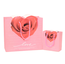 Romantic Fashion Rose Printed Cheap Paper Gifts Shopping Bags Wholesale