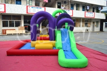2015 New Residential Kids Inflatable Water Slide and Pool Bouncer