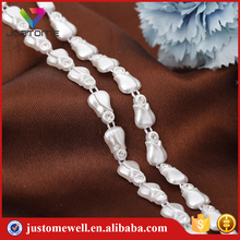 Factory Selling Pearl Beads Plastic Chain Trim With Shiny Crystal Rhinestone Trim