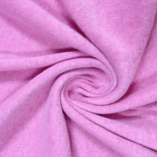 95% polyester 5% spandex knit single jeresy blushed fabric