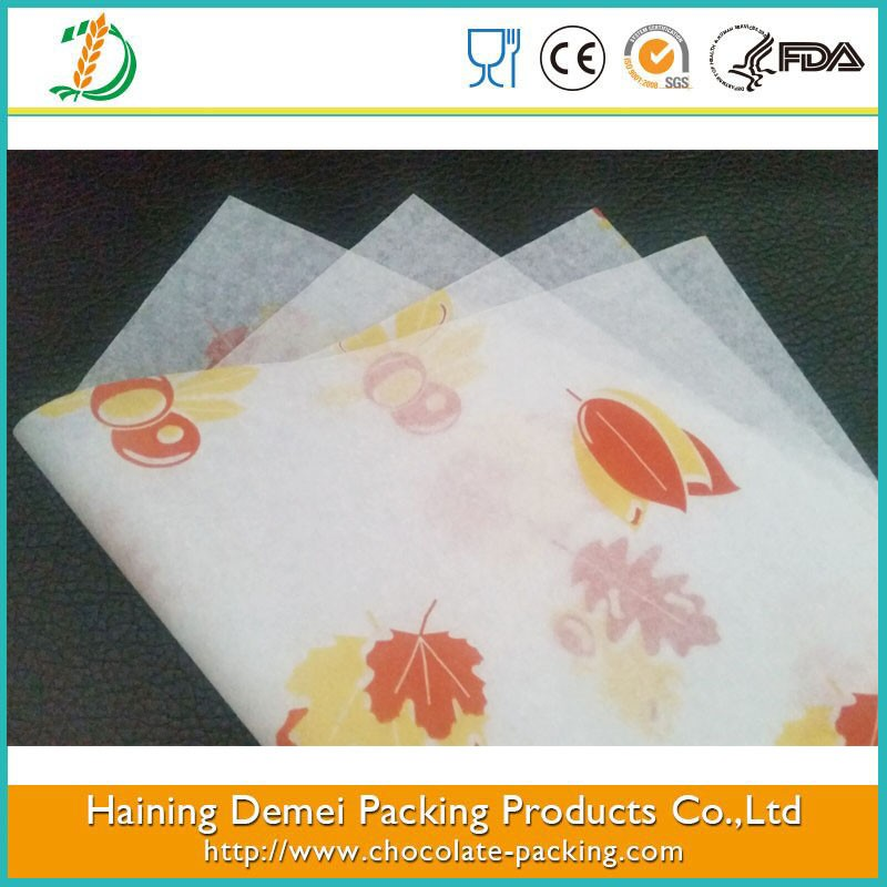 Silicone coated colored baking parchment paper for food baking China supplied