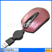 Retractable USB Optical Scroll Mouse for Laptop