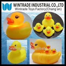 LED Flashing rubber duck, PVC DUCK Toy, Floating plastic duck yellow