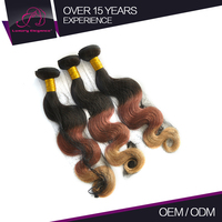 Wholesale Colored Brazilian Hair Body Wave #1B/30/613 Dark Brown Hair Light Brown Tone