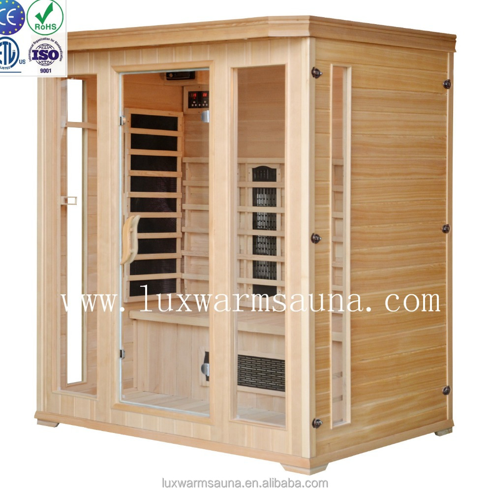 two kinds of infrared heater sauna room for 3 persons home sauna
