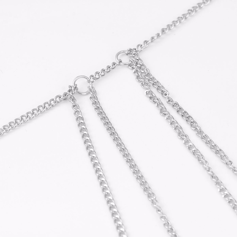 New Design Decoration Silver Plated Sexy Layered Leg Body Chain for Women