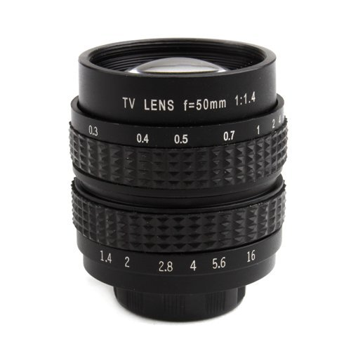 50mm f/1.4 C-Mount CCTV Lens For Sony NEX Mirrorless cameras For Sony NEX Series