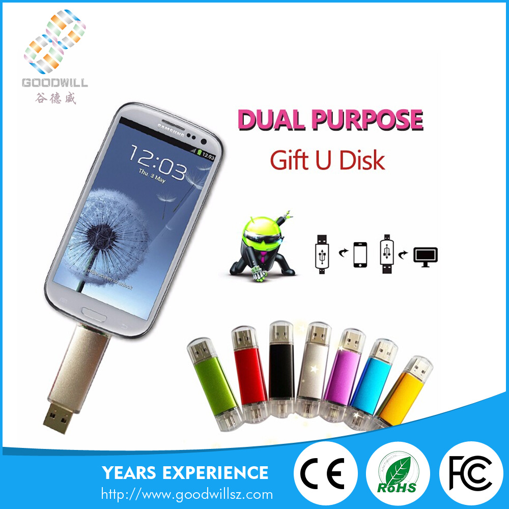 High Quality Pen Drive Otg Usb Flash Drive Thumbdrive For Smartphone