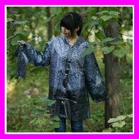 TPU Raincoat Eco-friendly Factory Wholesale Ladies Long Rain Jacket Outdoor Waterproof