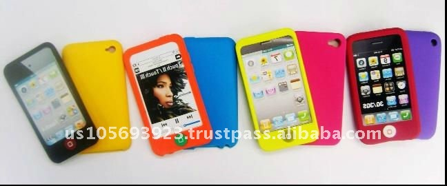 top quality! cell phone silicone case for iphone 4