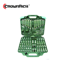 Crownrich 158pcs inch/Metric Ratchet Driver Driver Socket Wrench Tool Kit