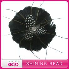 Fashion black feather headbands for women for bridal hair accessories