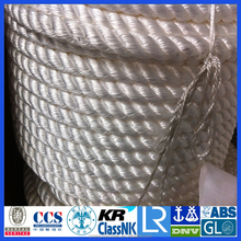 High strength polyamide multifilament mooring rope for ship