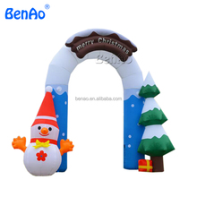 X158 Christmas inflatable arch yard decoration christmas ornaments,inflatable Christmas archway with snowman and tree,Inflatable