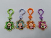 custom wholesale cartoon animal 2D 3D PVC keychain
