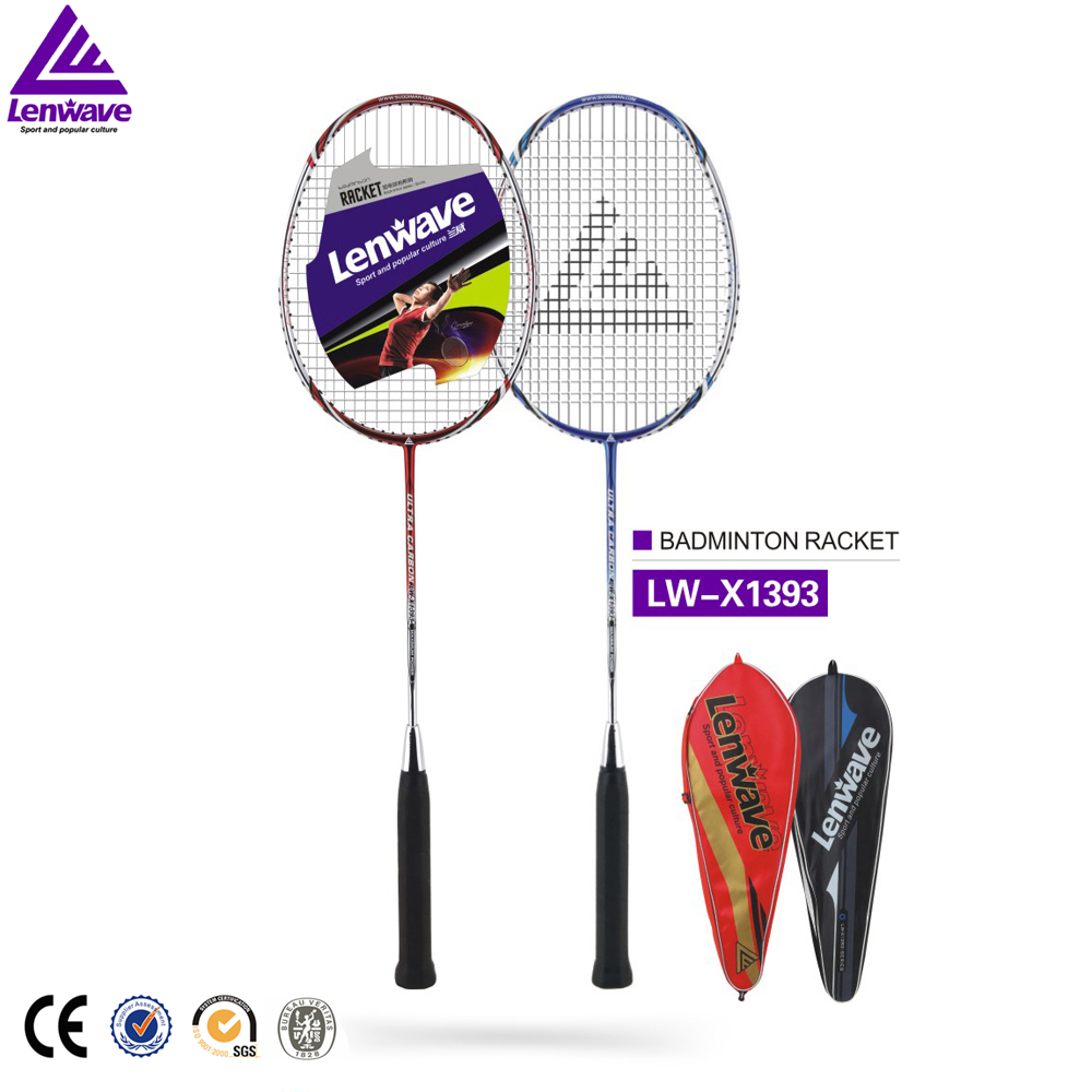 Lenwave top brand full carbon badminton racket