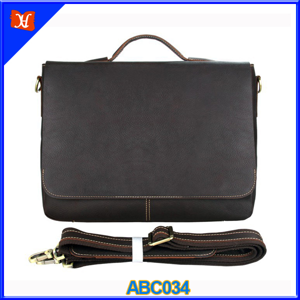 Portable Genuine Leather Briefcase Men Leather Laptop Briefcase