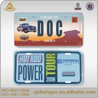 decorative plastic car license plates