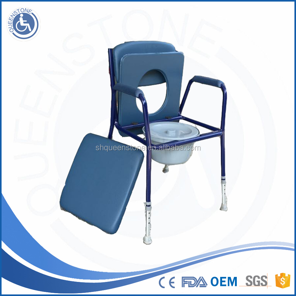 Wrist watch Rehab Shower Commode Chair with bedpan plastic commode chair