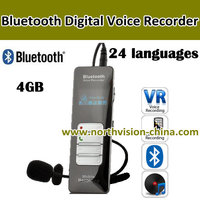 personal digital voice recorder, Metal case, 4GB,24 languages,VOR,password protecting, Rechargeable li-ion battery