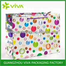Celebratory Holographic Dots Large Gift Bag Paper