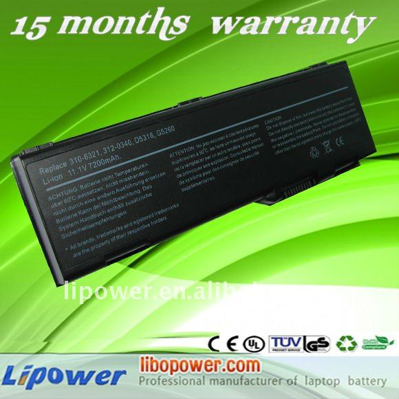Rechargeable For Dell D6000 Laptop battery