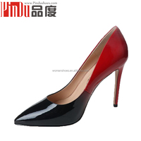Sexy passional high quality famale pointed toe dress shoes 10cm hight pencil heel evening party shoes