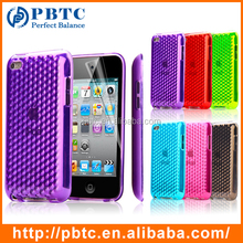 Set Screen Protector And Case , Colorful Diamond TPU Gel Cover Case For iPod Touch 4