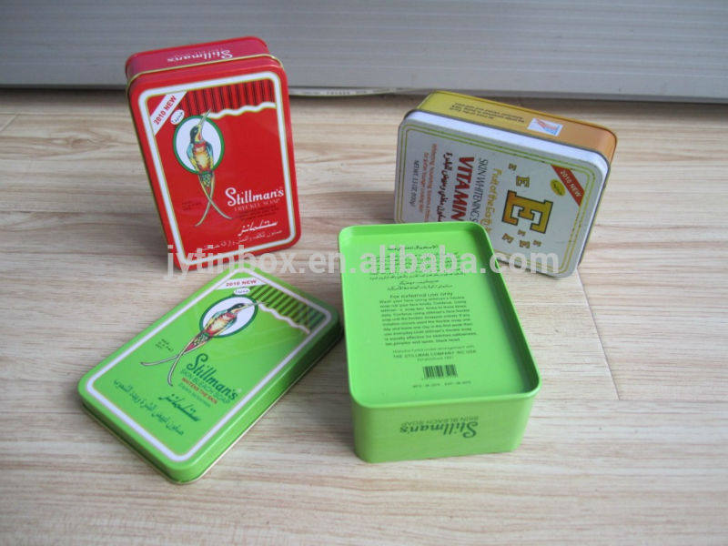 Wholesale high quality small rectangular metal soap container