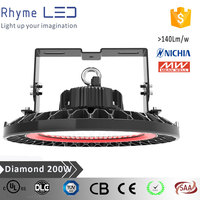 UL list high cost performance super bright 200w IP65 led high bay light with Meanwell driver