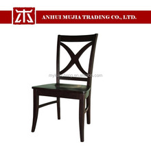 2015new modern House Farmhouse Dark Wooden Cross Back Dining Chair/Dining table and chair
