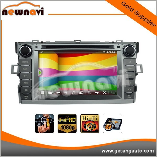 Newnavi capacitive touch screen car dvd player for Toyota