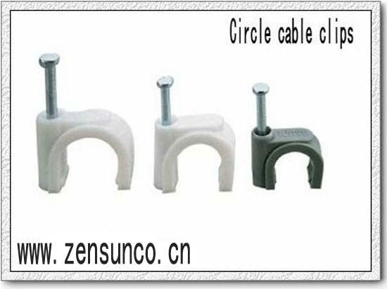 Cricle cable tie. made of pp and steel nail.