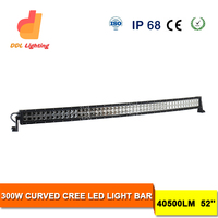 300w 4x4 crees curv led light bar flood/spot led light bars for off-road