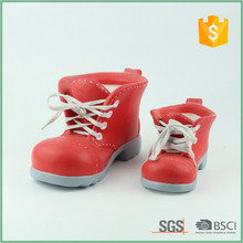 5 Inch Ceramic Red Boot Flower Pots For Plants