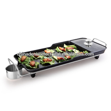 Aluminiuim nonstick electric bbq grill with hot pot