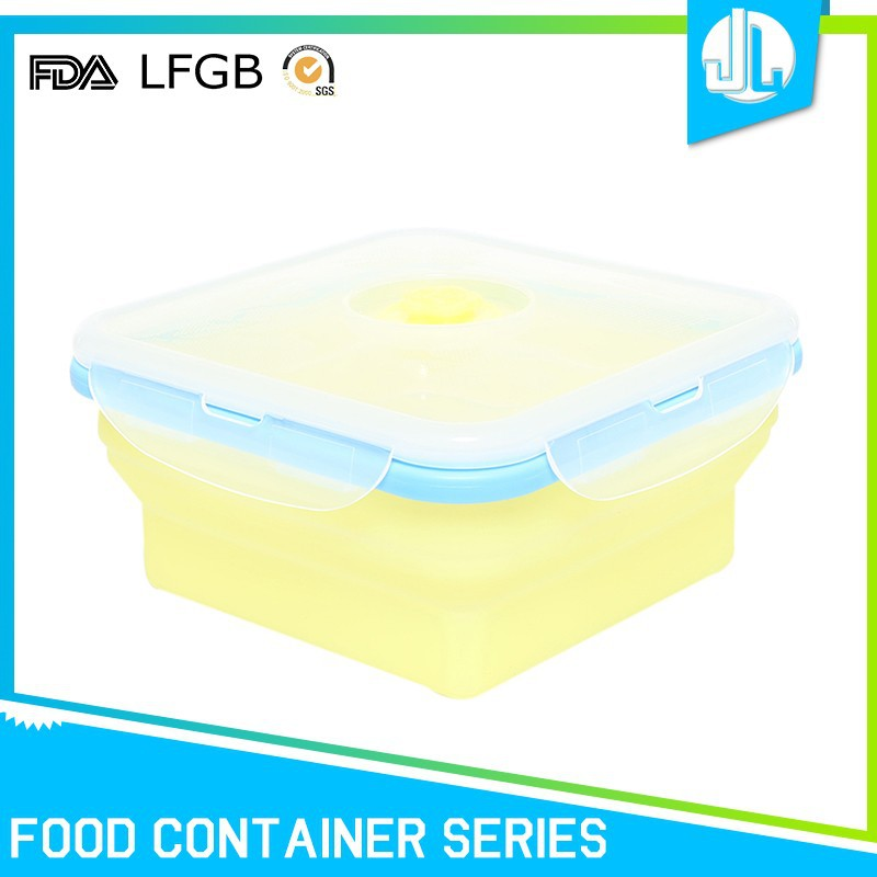 Home kitchen LFGB grade silicone collapsible food storage