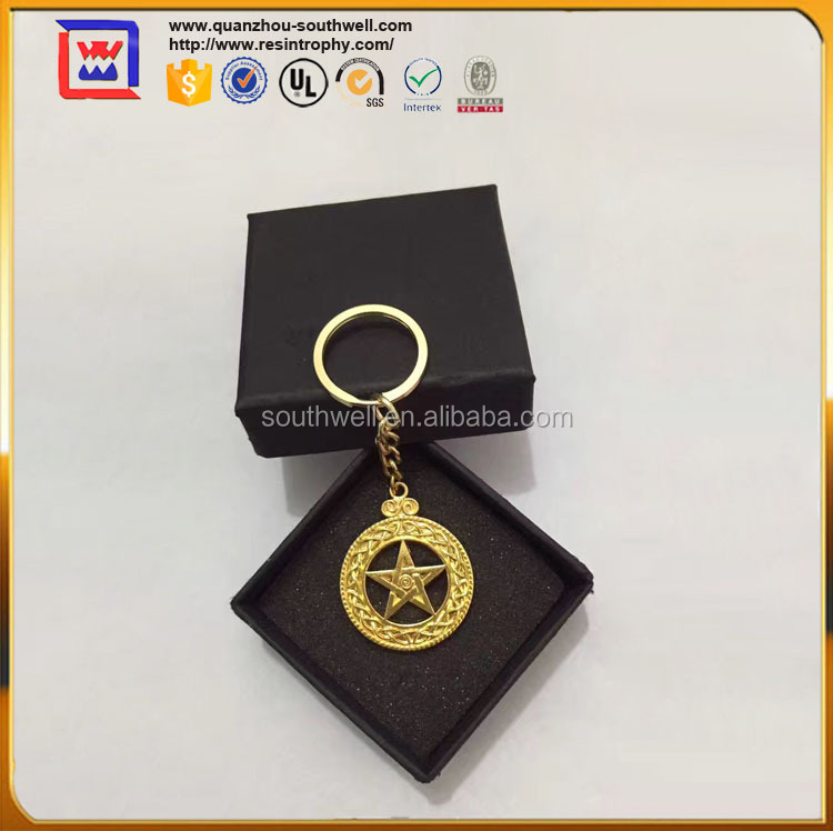 Gold Key Chain Ring For Gift