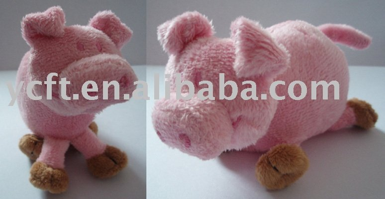 08282 funny pink stuffed plush toy pig