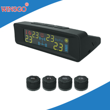 car Solar power external TPMS tire pressure monitor system with LED colorful screen