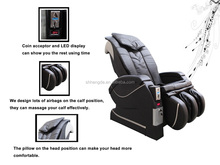 full body coin operated vending massage chair/spa japanese sex folding portable massage chair cushion CM-03A