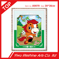 12 Chinese zodiac signs happy horse 5D diamond painting mosaic needlework cartoon animal picture for children cross stitch