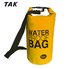 2018 15L Outdoor 500D PVC Container Customized Color Wet Waterproof Ocean Pack Dry Bag