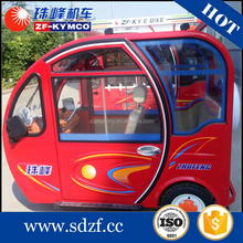 Smart enclosed passenger tandem reverse tricycle for passenger
