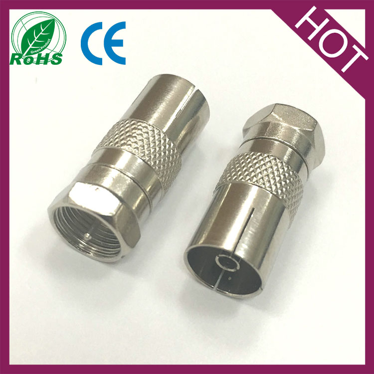 Arial Coaxial Antenna F Plug Male To Coax TV PAL Jack Female Connector