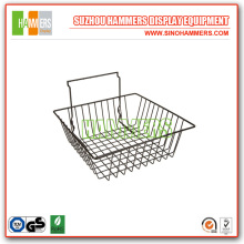 Narrow Metal Hanging Slatwall Basket