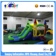 2017 Sunjoy Commercial hot Inflatable Dry Water Slide For US Market