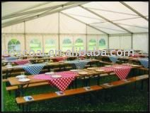 aluminium tent, double PVC fabrics, to DIN 4102 B1 M2, waterproof